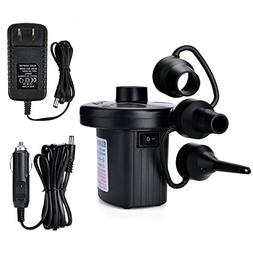 Electric Air Pump, AGPtEK Portable Quick-Fill Air Pump with