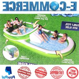 Family Funny Inflatable Pool With Two Cup Holders, 237 Gal