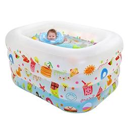 """Family Inflatable Pool PVC Baby Swimming Pool,45""""X37""""X30"""""""