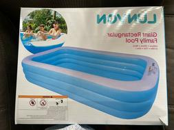 "Lunvon Family Inflatable Swimming Pool 120"" X 72"" X 22"" Full"