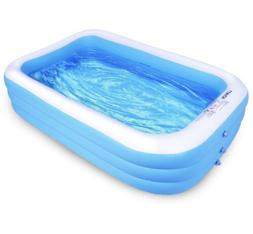 "Family Inflatable Swimming Pool, 120"" X 72"" X 22"" Full-Sized"