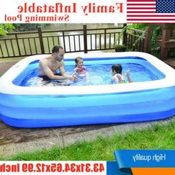 family large swimming pool garden outdoor summer