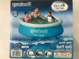 """BESTWAY Fast Set Round Inflatable Pool 6ft x 20""""  NEW  **QUI"""