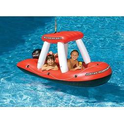 Fireboat Squirter Inflatable Pool Toy, Heavy Gauge Vinyl, Co