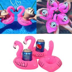Flamingo Inflatable Float Cup Drink Holders Swimming Pool Su