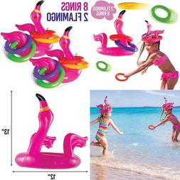 Top Race Flamingo Ring Toss Games For Kids Outdoor, Inflatab