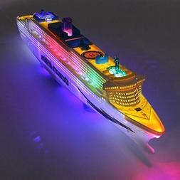 Flashing LED Lights Sound Ocean Liner Models Cruises Boat El