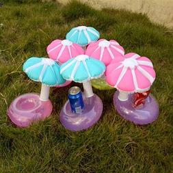 Float Inflatable Umbrella Tree Drink Cup Holder Mini Drink P