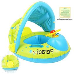 Peradix Baby Float Water Toys with Inflatable Canopy Sunshad