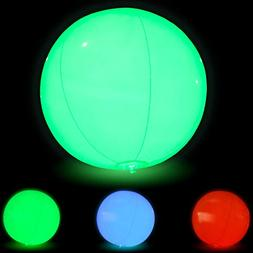 Large Floating and Inflatable LED Glow in The Dark Beach Bal
