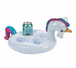 FLOATING Inflatable UNICORN Coaster DRINK Can HOLDERS Inflat