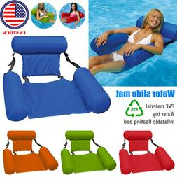 Foldable Pool Seats Inflatable Bed Adult Lounge Chair Swimmi