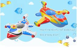 Free Swimming Baby Inflatable Airplane Swimming Float Seat B