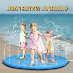 Funny Inflatable Splash Spray Water Mat Pad Kid Outdoor Pool