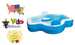 Genuine-Summer Waves Inflatable Family Pool with Mosaic Inte