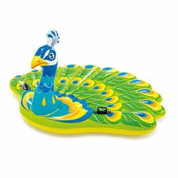 Intex Giant Inflatable Colorful Peacock Island Ride On Swimm