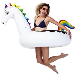 U.S. Pool Supply Giant 5 Foot Inflatable Rainbow Pegasus Poo
