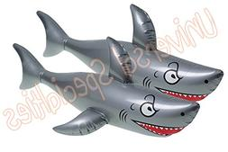 Giant Inflatable Shark Pool Toy - Inflates to 40 Inches! Par