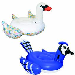 Giant Inflatable Swan Pool Float Bundled w/ Giant Inflatable