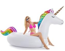 Jasonwell Giant Inflatable Unicorn Pool Float Floatie Ride O