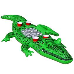 GoFloats Giant Party Gator Floating Alligator with Cooler an