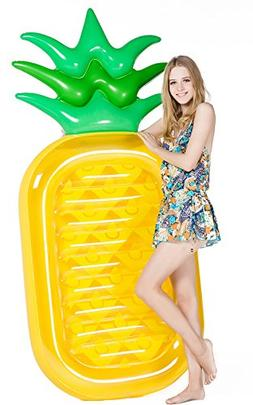 """Giant 76"""" Pineapple Pool Party Inflatable Float Raft Summer"""