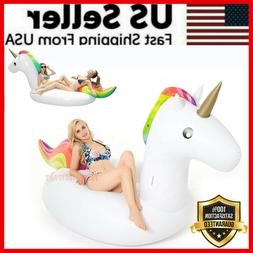 Giant Unicorn Inflatable Pool Float Adults Kids Outdoor Swim