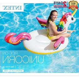 Intex Giant Unicorn Inflatable Pool Float Ride-On Swimline F