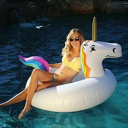 Giant Unicorn Party Tube Inflatable Raft Pool Float Lounger