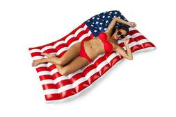 BigMouth Inc Giant Waving American Flag Pool Float, 5' Wide