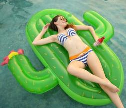 Inflatable Cactus Pool Float Cup Holder Large Outdoor Swimmi