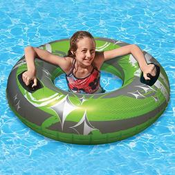"50"" Green, Gray and White Giant Inflatable Swimming Pool Hur"