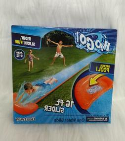 H20 Go Inflatable Lawn Water Slide Single 16 Ft Slider & Dre