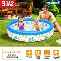 h2o go 3 ring inflatable kids pool