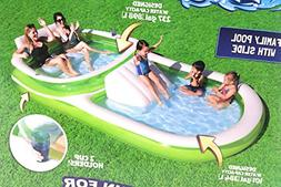 H2O Go! Bestway Dual Family Pool 12ft Long with Slide 237gal