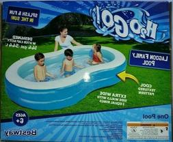 BESTWAY H2O GO! LAGOON FAMILY POOL INFLATED 8FT.7IN. X 62IN.