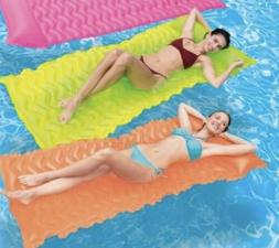 H2O GO Pool Lounge Tanning Float N Roll Air Mat with Pillow