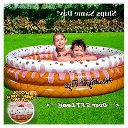 H2OGO Sundae Funday Kids Inflatable Swimming Pool Family Pla