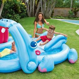 hippo play center with built in slide
