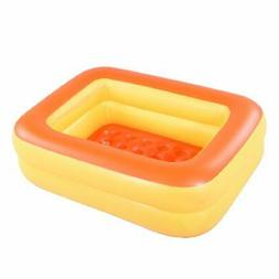 "HIWENA Inflatable Kiddie Pool, 45"" Orange Kids Swimming"
