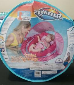 Infant Baby Spring Float with Sun Canopy in Pink - NEW