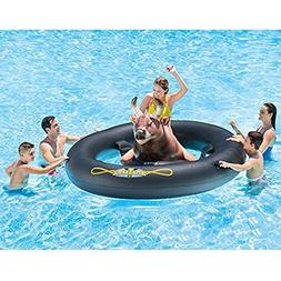 Adult Inflat-A-Bull with PUMP, Mechanical Inflatable Lake Ri