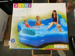 Intex Inflatable 2 Seat Swim Center Family Lounge Pool Blue
