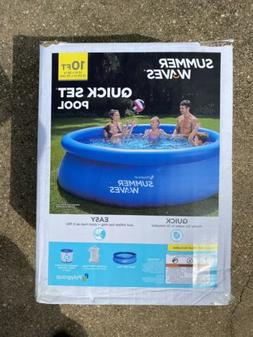 "Inflatable Above Ground Swimming Pool 10'x30"" Kids Outdoor S"
