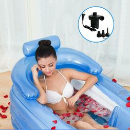 Inflatable Bath Tub with Electric Air Pump Portable Adult Po