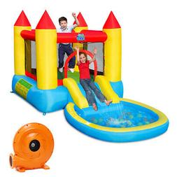 Inflatable Bounce House Kids Slide Jumping Castle Bouncer w/