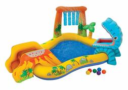 Inflatable Childern Kids Pool Dinosaur Play Center Outdoor T