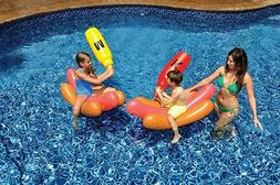 Inflatable Hot Dog Battle Set for Swimming Pool