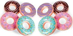 Fun Express Inflatable Donuts - 12 pack - Donut party and po