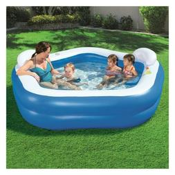 Inflatable Family Fun Kiddie Swimming Pool Outdoor Backyard